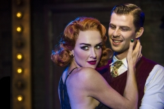 "Production shot of Chelsea Gibb & Jason Kos in the musical, ""Cabaret"", Hayes Theatre"