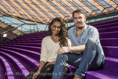 Paulini & Hugh Sheridan - editorial shot for Hair the musical