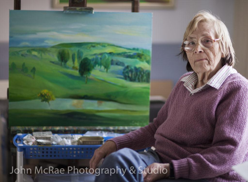 Alice Blanch Chehovski in her studio, 2007