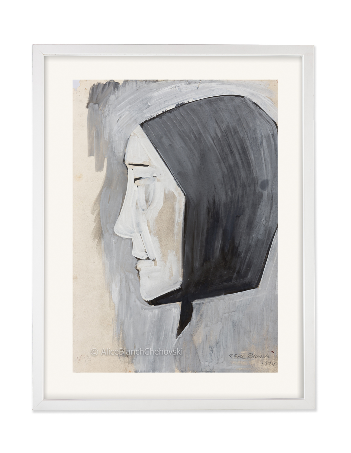 Woman's Head for Burial, 1974
